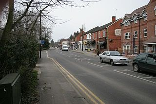 Crowthorne town in Berkshire, England