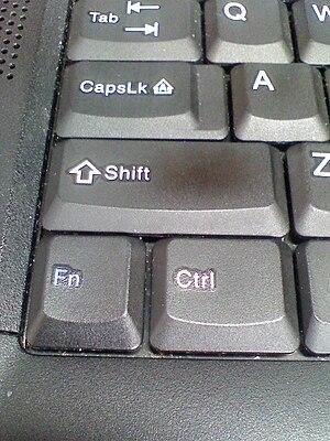 中文(香港): 鍵盤上的Ctrl鍵、Shift鍵及Fn鍵