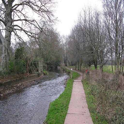 Cullompton Mill Leat walk. - geograph.org.uk - 1097181