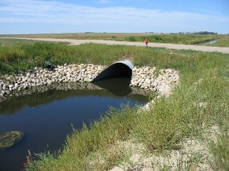AK Steel Holding - An Armco culvert in an irrigation canal.