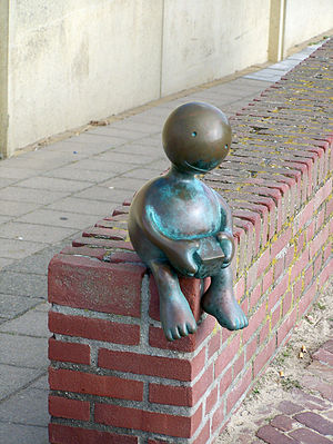 Tom Otterness - A sculpture, by Tom Otterness