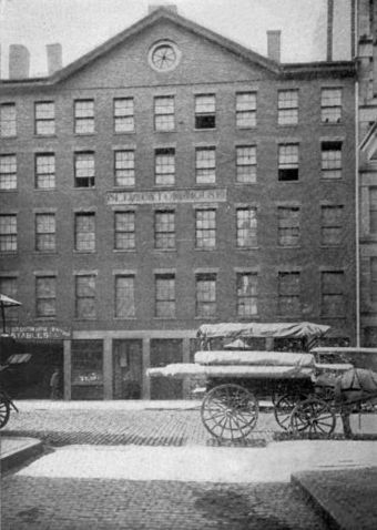 Boston Custom House, Custom House Street, where Hawthorne worked ca.1839-40 CustomHouseStreet Boston.jpg