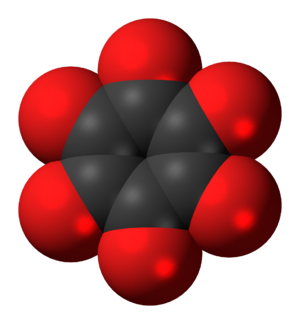 Cyclohexanehexone - Image: Cyclohexanehexone 3D spacefill