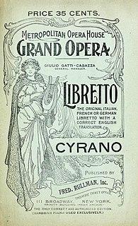 <i>Cyrano</i> (Damrosch) Opera by Walter Damrosch, 1976