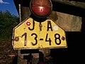 Czechoslovak License Plate JIA 1348 yellow back.jpg