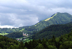 Dürrnberg seen from the Barmsteine