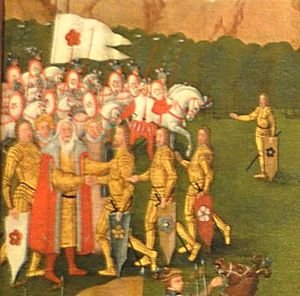 Witiko of Prčice - Witiko dividing his property among his sons (from the Division of the Roses)