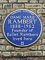 DAME MARIE RAMBERT 1888-1982 Founder of Ballet Rambert lived here.jpg
