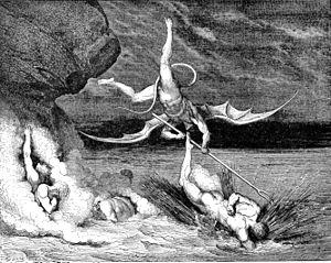 Alichino (devil) - Alichino trying to catch the escaping sinner Bonturo Dati
