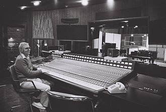 Chris Stone (entrepreneur) - Dan Wallin at the Solid State Logic desk, Studio C, Record Plant, Third Street
