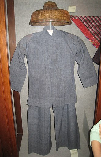 Tanka people - Traditional Tanka people clothes in a Hong Kong museum.