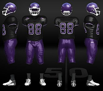 Mount Union Purple Raiders football - Image: Dark uniform for the University of Mount Union