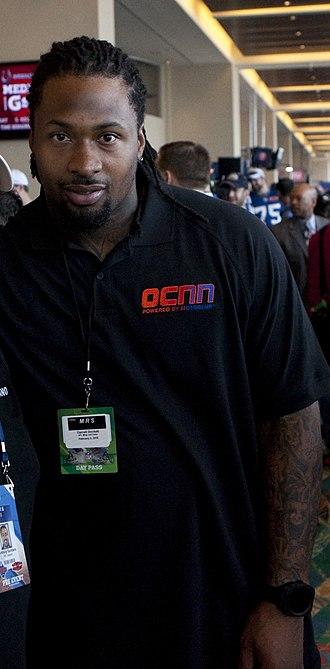 Darnell Dockett - Dockett at Super Bowl XLIV Media Day.