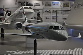 Dassault Falcon 5X model Paris Air Show 2015.jpg