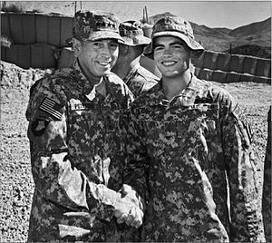 David Petraeus - With his son Stephen, Afghanistan, 2010