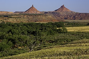 Bears Ears National Monument - Indian Creek Canyon and the Sixshooter Peaks