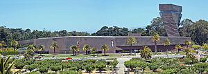 De Young (museum) - Museum, with Hamon Tower on the right