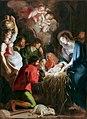 De aanbidding van de herders. Schilderij op paneel door Cornelis De Vos.jpg