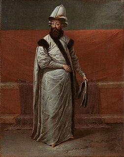 Grand Vizier of the Ottoman Empire during the Tulip Period in the early 18th century