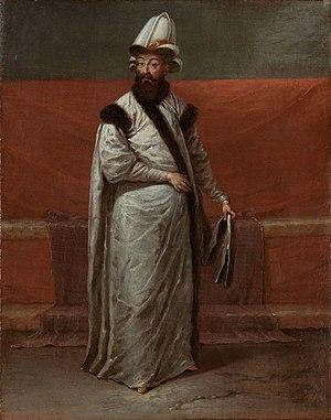 Nevşehirli Damat Ibrahim Pasha - Nevşehirli Damat Ibrahim Pasha, portrayed by Jean Baptiste Vanmour around 1727-1730.
