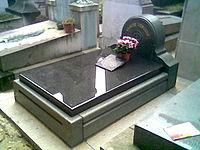 La tumba de Debussy en el Cementerio de Passy