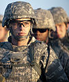 Defense.gov News Photo 101021-A-5663H-140 - U.S. Army Reserve Spc. Joshua McDowell left listens to instructions before participating in one of the evaluation lanes at the Warrior Tasks and.jpg