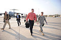 Defense.gov News Photo 101026-D-7203C-001 - Deputy Secretary of Defense William J. Lynn III is escorted by Brig. Gen. Joseph DeSalvo after his arrival in Baghdad Iraq on Oct. 26 2010. Lynn.jpg