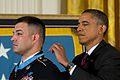 Defense.gov News Photo 110712-A-0193C-010 - President Barack Obama awards Sgt. 1st Class Leroy Petry the Medal of Honor in the White House in Washington, D.C., on July 12, 2011.jpg