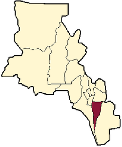 location of Ancasti Department in Catamarca Province