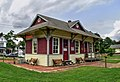 Depot at Eastern Shore Railway Museum, Parksley, VA, August 2014.jpg