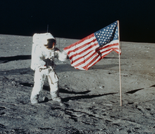 Image result for flag on the moon