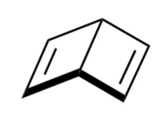 Dewar benzene - The conjoined cyclobutene rings of Dewar benzene form an obtuse angle.