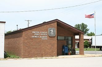 East Bend Township, Champaign County, Illinois - Dewey Illinois Post Office.