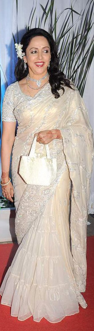 Dharmendra - Dharmendra with his second wife at the wedding of Esha Deol