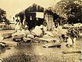 Dhobi washing clothes in Calcutta in 1945.jpg