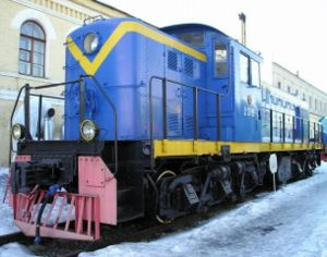 ALCO RSD-1 - Former Soviet Railways Да20-09 (DA20-09) on exhibit at the railway museum in former Varshavsky terminal -- Saint Petersburg, Russia. Originally built by ALCO as a model RSD-1 in 1944 and exported to the USSR.
