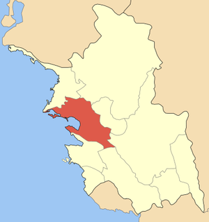 Locator map of Igoumenitsa municipality (Δήμος...