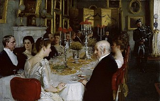 Haddo House - Dinner at Haddo House, 1884 portrait by Alfred Edward Emslie