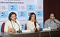 Director Kyriacos Tofarides and Actress Neetu Chandra interacting with the Media, at the 44th International Film Festival of India (IFFI-2013), in Panaji, Goa on November 26, 2013.jpg