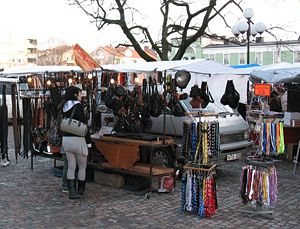 Dísablót - The celebration lives on as an annual market in Uppsala, Sweden. A scene from the disting of 2008.