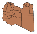 Districts of Libya Controlled by Gaddafi and the NTC.png