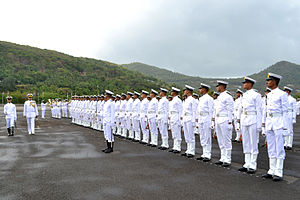 Indian Navy - Guard of honour at the INA, 2012.