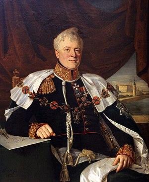 Dmitry Golitsyn - Portrait by François Nicholas Riss