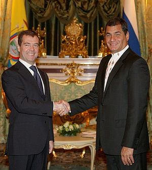 Dmitry Medvedev with Rafael Correa-3