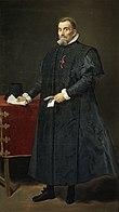 Giudice spagnolo in toga ritratto da Diego Velázquez.