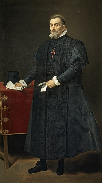 17th century Spanish judge in full gowns, by Velázquez.