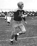 A photo of Don Hutson running with the football