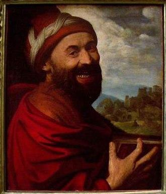 Democritus - 1540 painting of Democritus by Dosso Dossi.