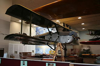 Douglas World Cruiser - The Chicago undergoing restoration while at the National Air and Space Museum