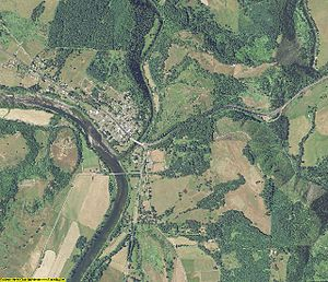 Douglas County, Oregon - An aerial view of the county
